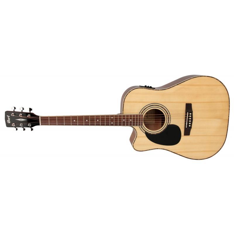 Cort AD880CE Naturel Gaucher - Guitare électro-acoustique