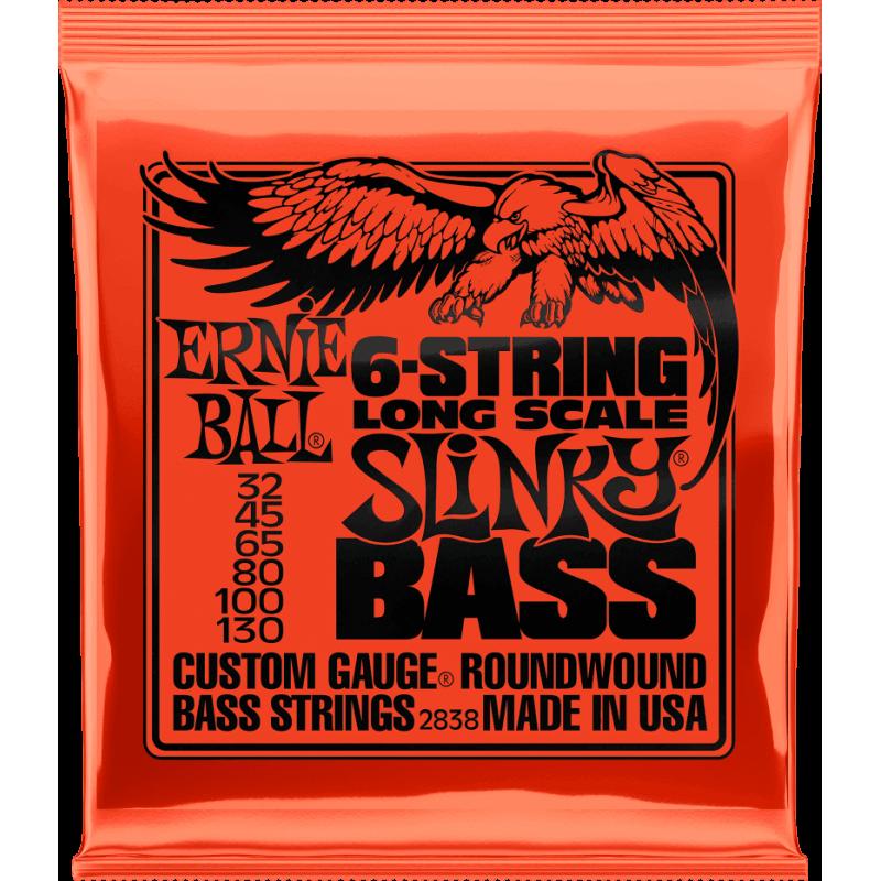 Ernie Ball 2838 Jeux - Slinky long scale 6 cordes