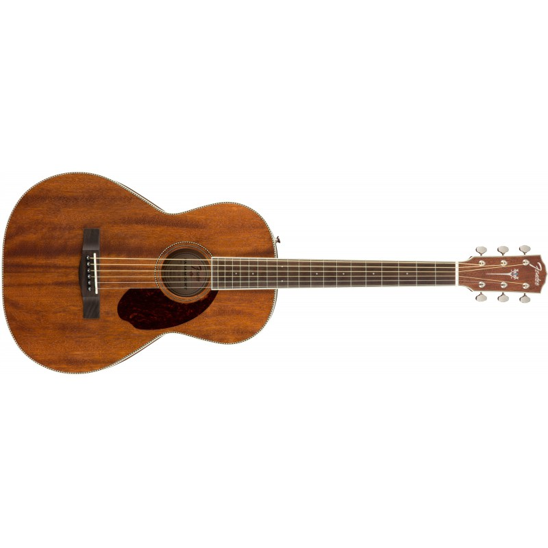 Fender PM-2 Parlor NE All-Mahogany Natural - Guitare acoustique