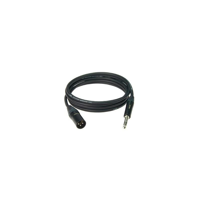 MBMS1X0500 - Câble Micro XLR/Jack - 5m - Noir - Amphenol