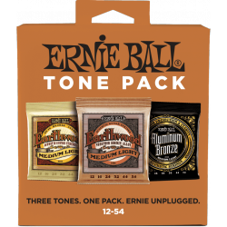 Ernie Ball Packs de 3 jeux - Medium light