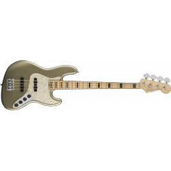 Fender American Elite Jazz Bass®, Maple Fingerboard, Champagne