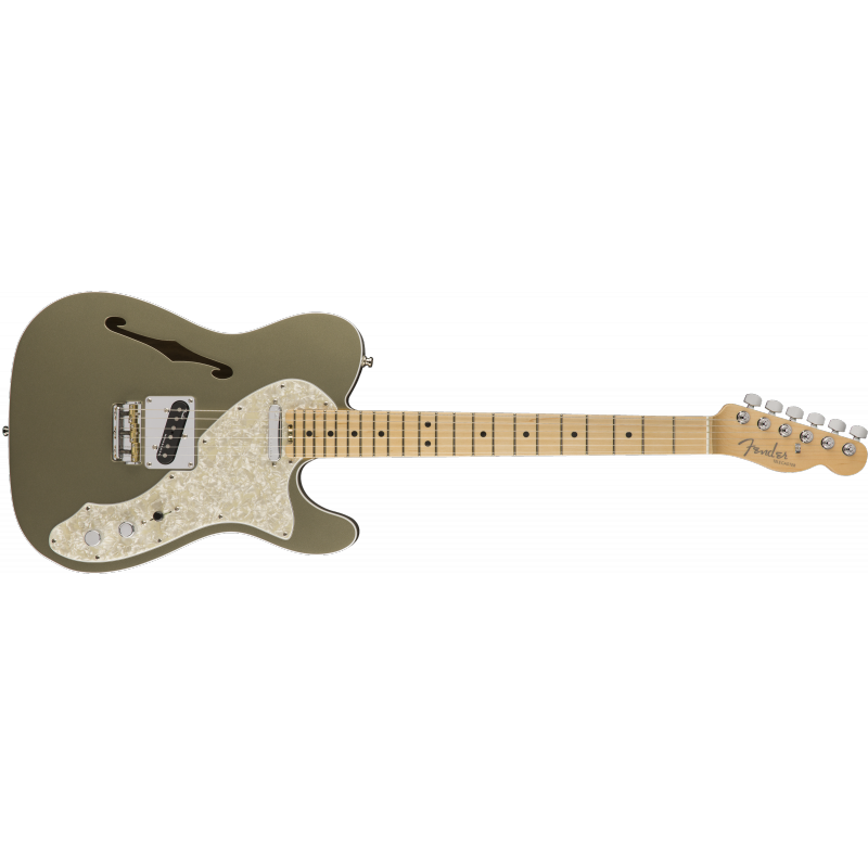 Fender American Elite Telecaster® Thinline, Maple Fingerboard, Champagne