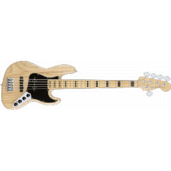 Fender American Elite Jazz Bass® V Ash, Maple Fingerboard, Natural