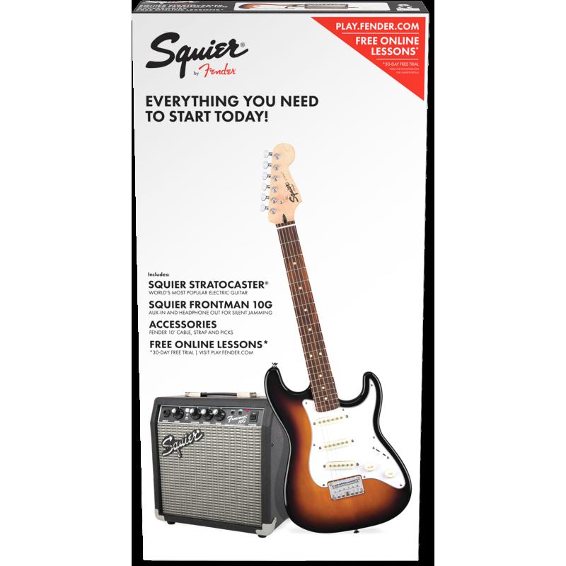 Squier Strat® SS Pack, Rosewood Fingerboard, Brown Sunburst