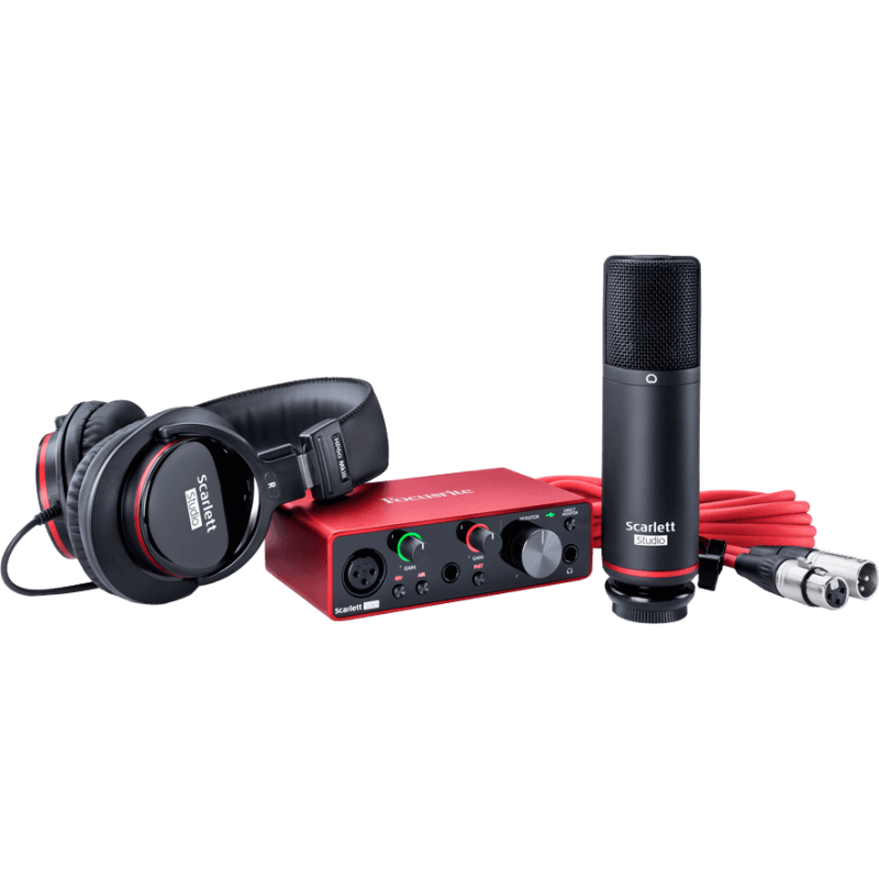 Focusrite Scarlett G3 - 2 in/2 out USB-C - micro, casque & accessoires