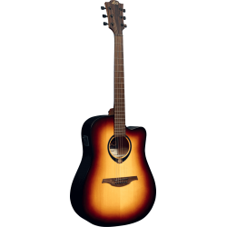Lag Dreadnought cutaway electro brown burst