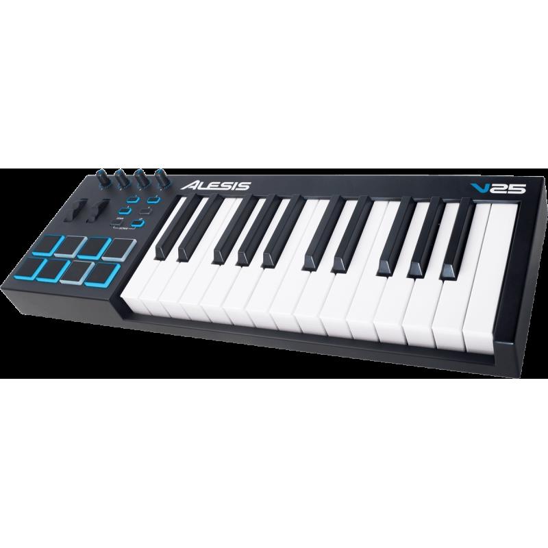 Alesis V25 USB MIDI 25 notes 8 pads