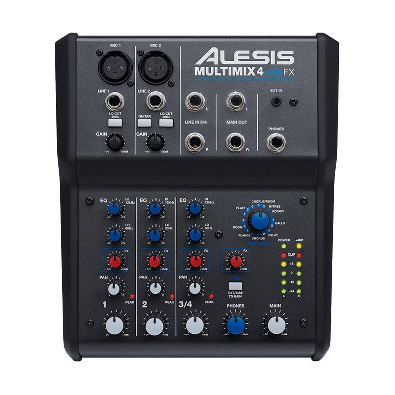 Alesis Multimix USB 4 voies, 6 entrées + effets