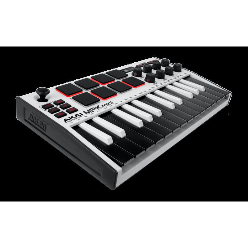 Akai MPKMINI3WH Mini touches - USB 25 mini notes 8 pads écran OLED