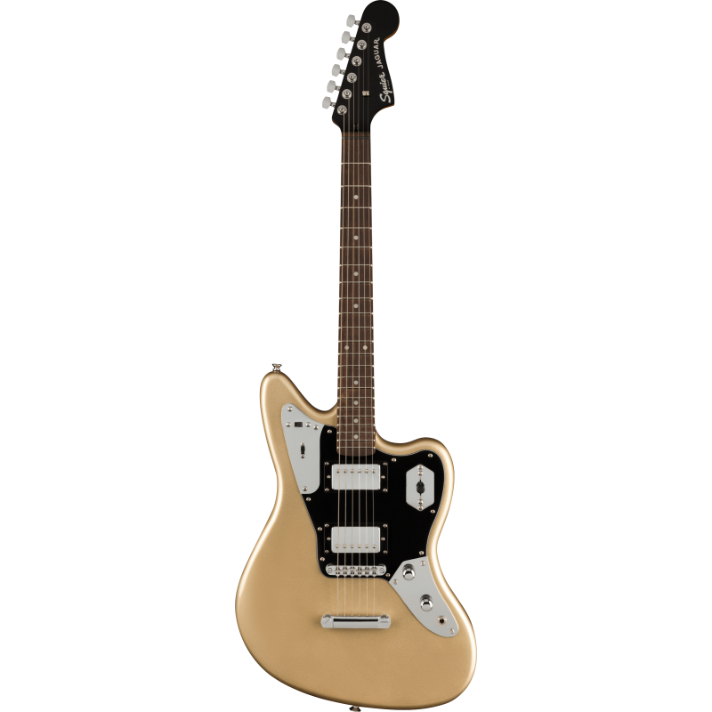 Squier Contemporary Jaguar® HH ST, Laurel Fingerboard, Black Pickguard, Shoreline Gold