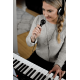 Alesis HARMONY61MKII Clavier 61 touches piano, avec stand, banquette, casque et micro