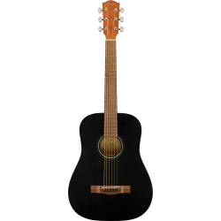 FA-15 3/4 Scale Steel with Gig Bag, Walnut Fingerboard, Black
