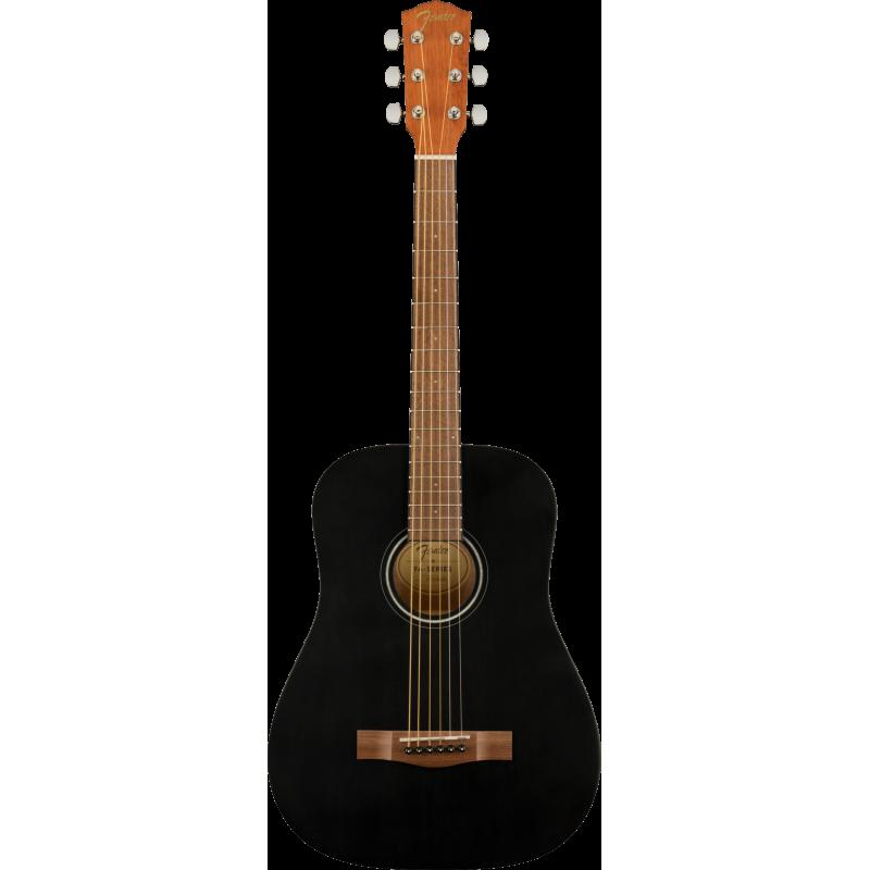 Fender FA-15 3/4 Scale Steel with Gig Bag, Walnut Fingerboard, Black