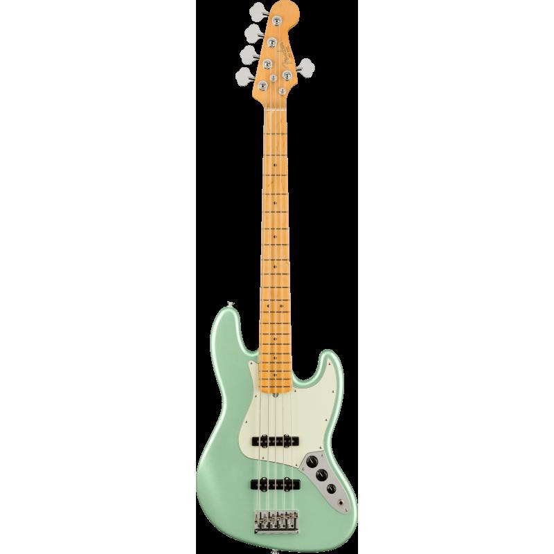 Fender American Professional II Jazz Bass® V, touche en érable, Mystic Surf Green