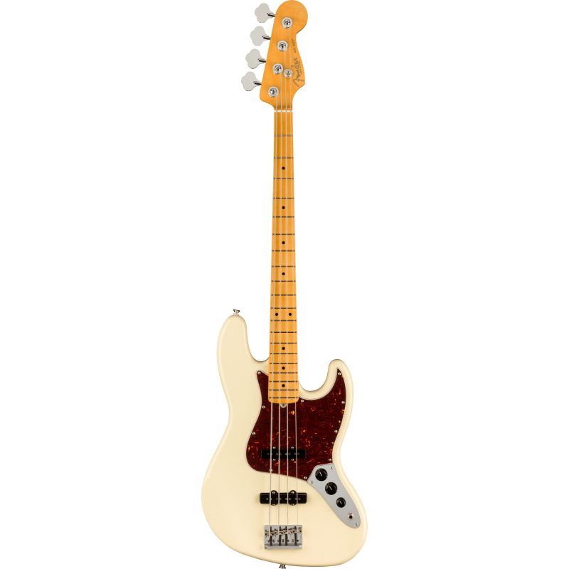 Fender American Professional II Jazz Bass®, Maple Fingerboard, Olympic White