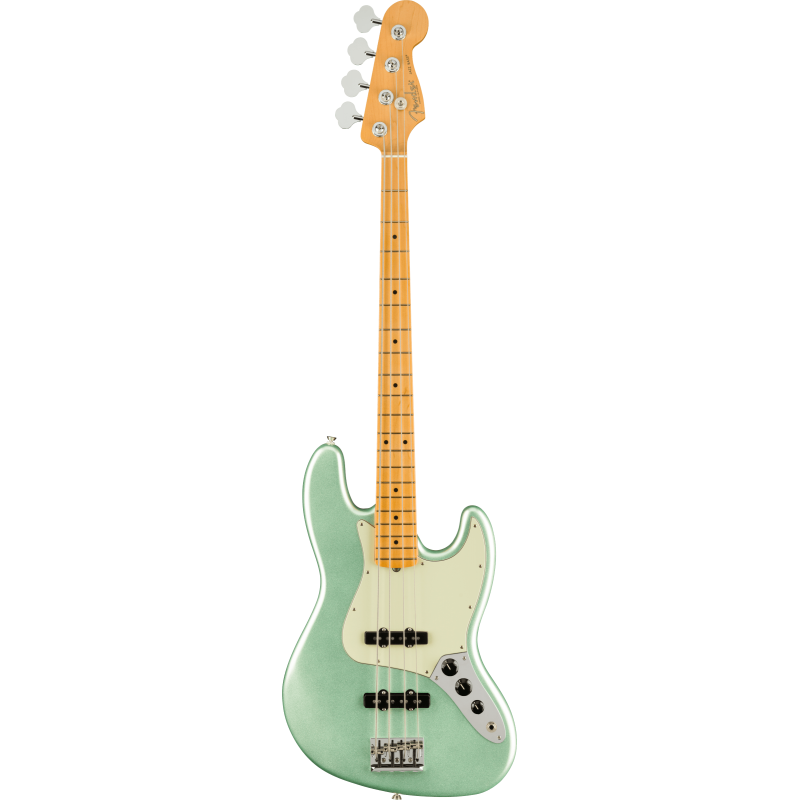 Fender American Professional II Jazz Bass®, Touche en érable, Mystic Surf Green