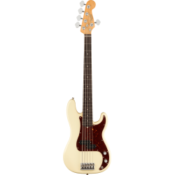 Fender American Professional II Precision Bass® V, Rosewood Fingerboard, Olympic White