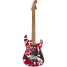 EVH Striped Series Frankenstein™ Frankie, Maple Fingerboard, Red with Black Stripes Relic