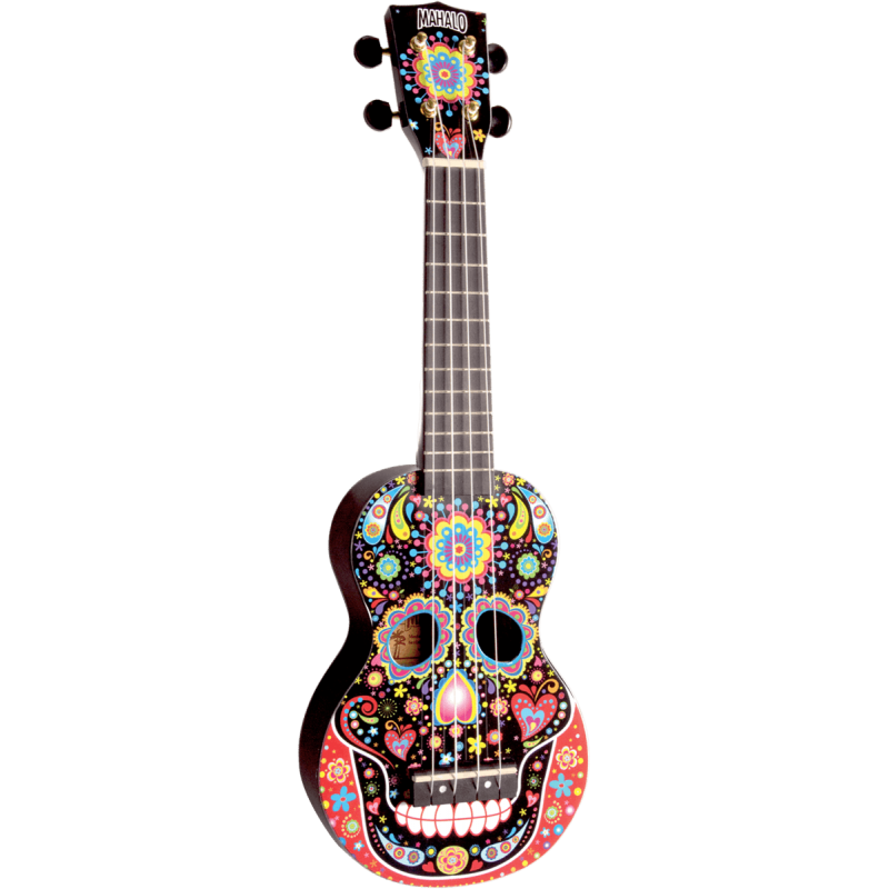 Mahalo MA1SKBK Art - Soprano Crâne Mexicain