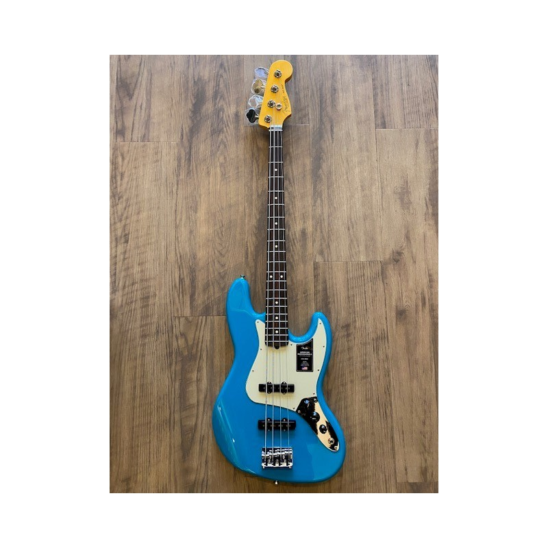 Fender American Professional II Jazz Bass®, touche en palissandre, Miami Blue