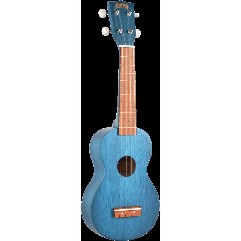 Mahalo Soprano bleu satin + housse