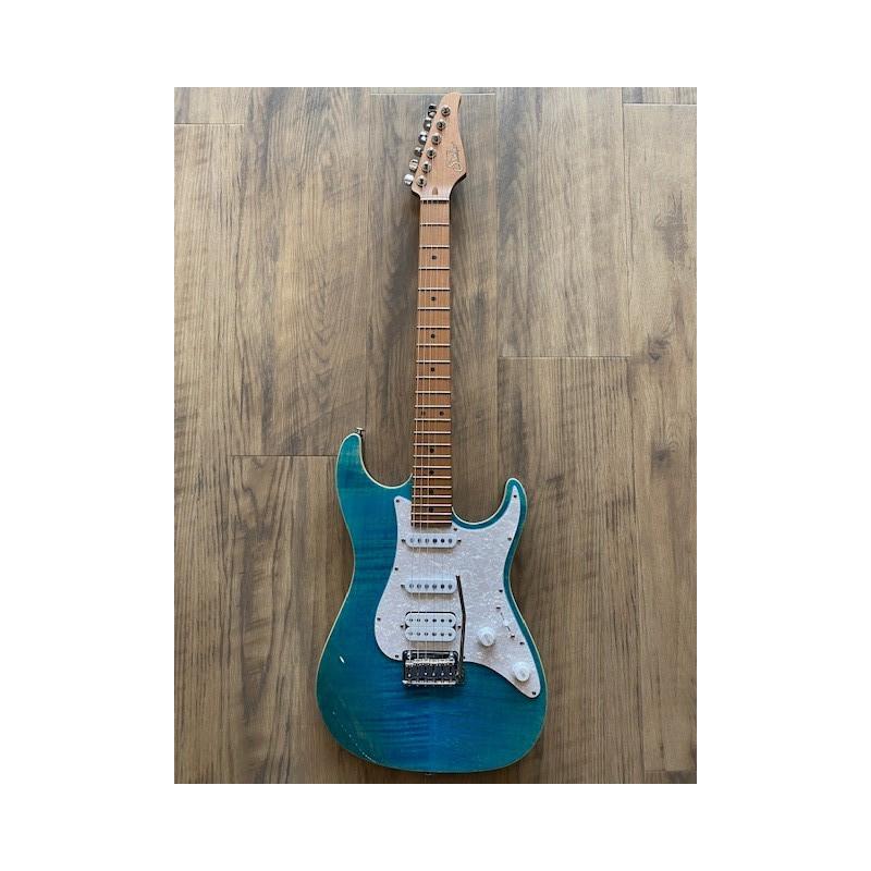 Suhr Standard Plus, Bahama Blue, Roasted Maple fingerboard, HSS, SSCII