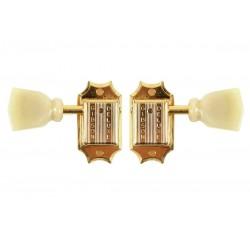 Gibson Vintage Gold Pearloid Buttons PMMH-020 - Lot de 2