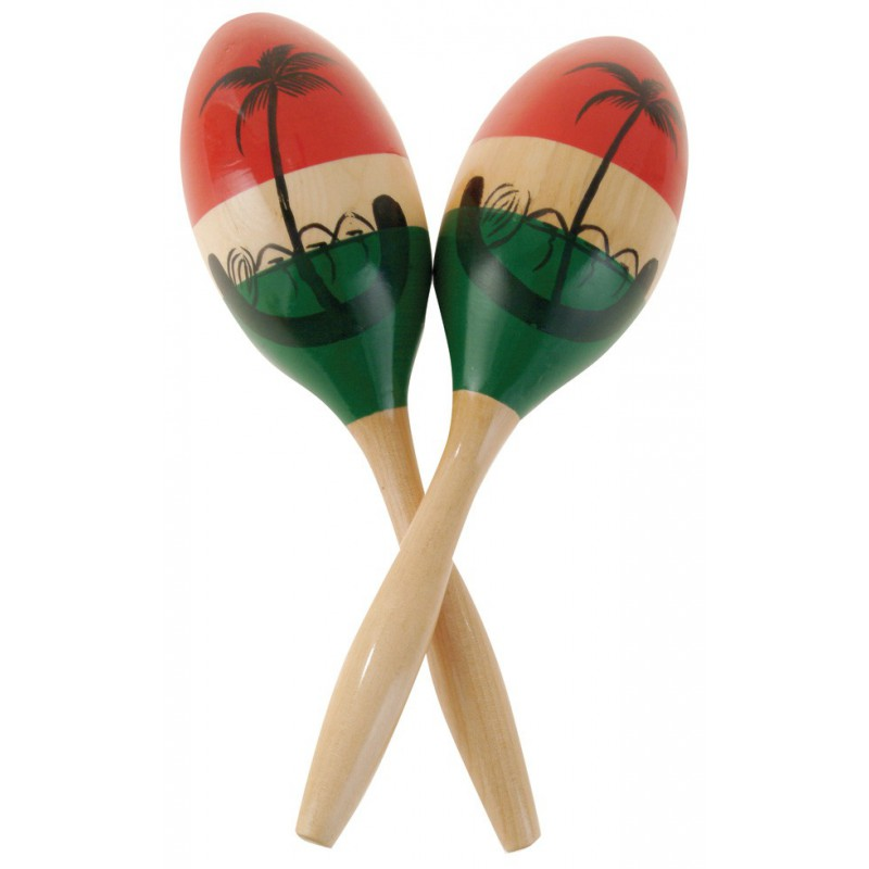 CP LP Wood Maracas - Medium - Painted - CP287
