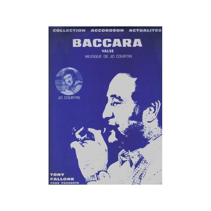 Edition Fallone Baccara - Valse - J.COURTIN - Partition Accordéon