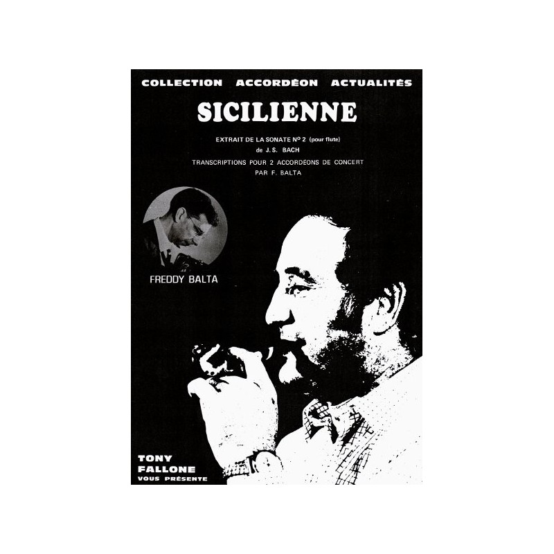 Edition Fallone Sicilienne (duo) - J.S.BACH - Partition Accordéon