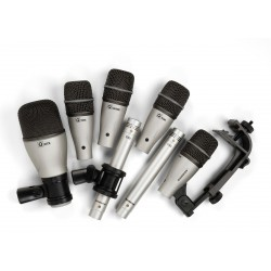 7 Kit - Pack 7 Microphones Batterie + étui