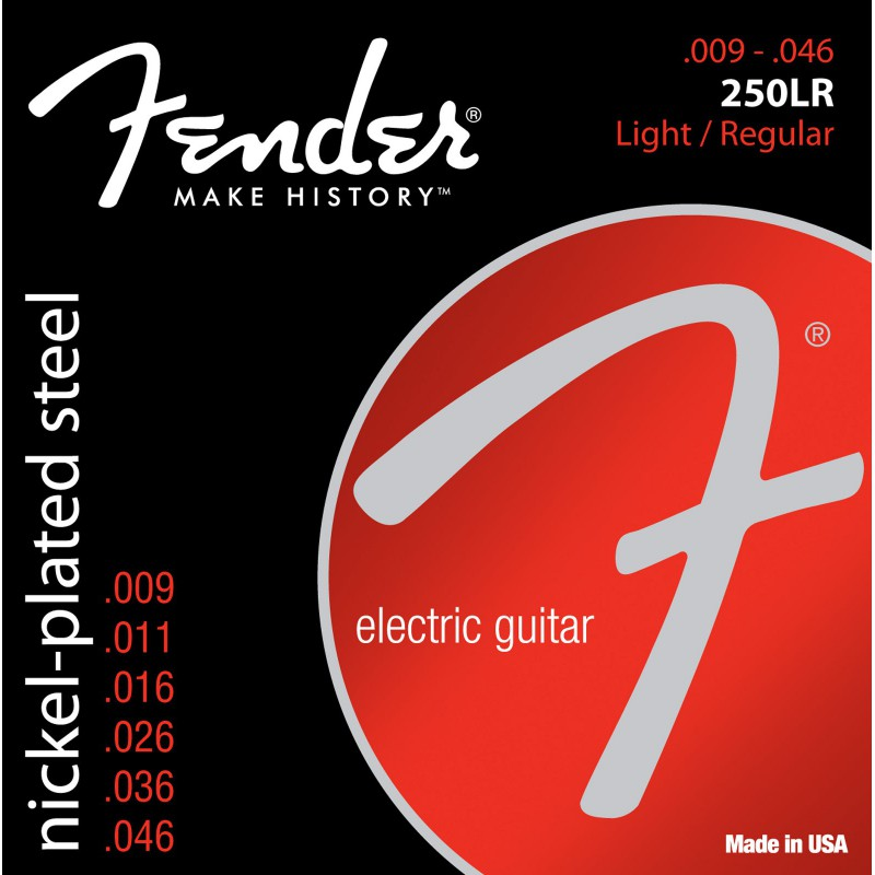 Fender Super 250's NPS Nickel Plated 09-46 - 073-0250-404