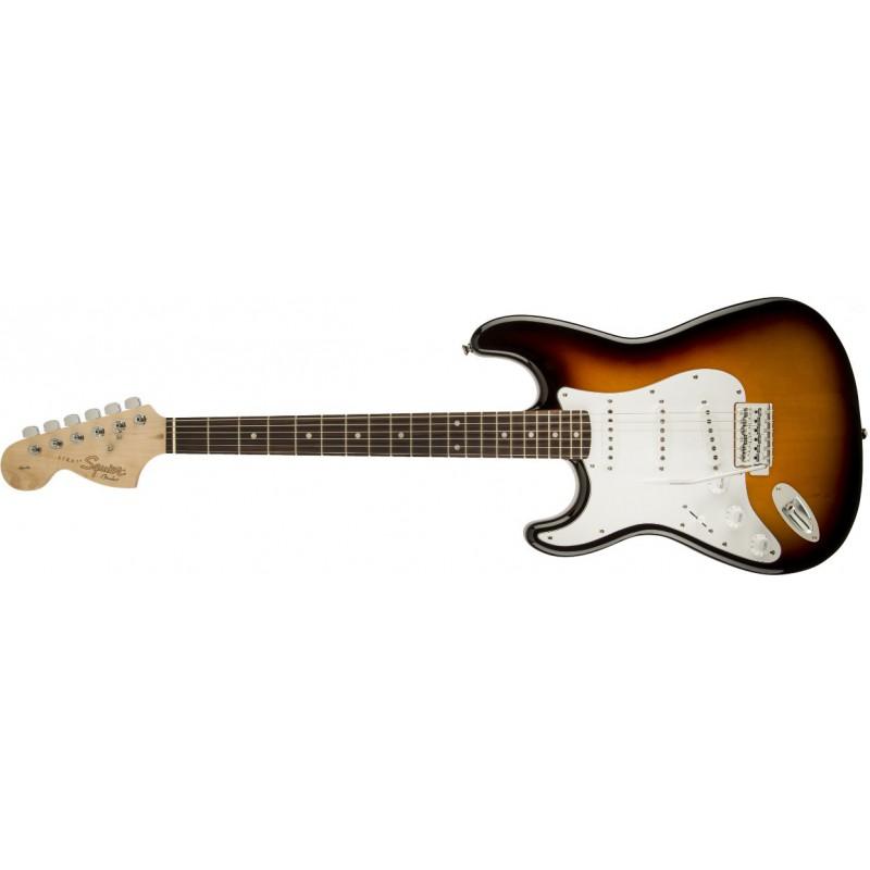 Squier Stratocaster Affinity Series Brown Sunburst Rosewood Gaucher - 031-0620-532