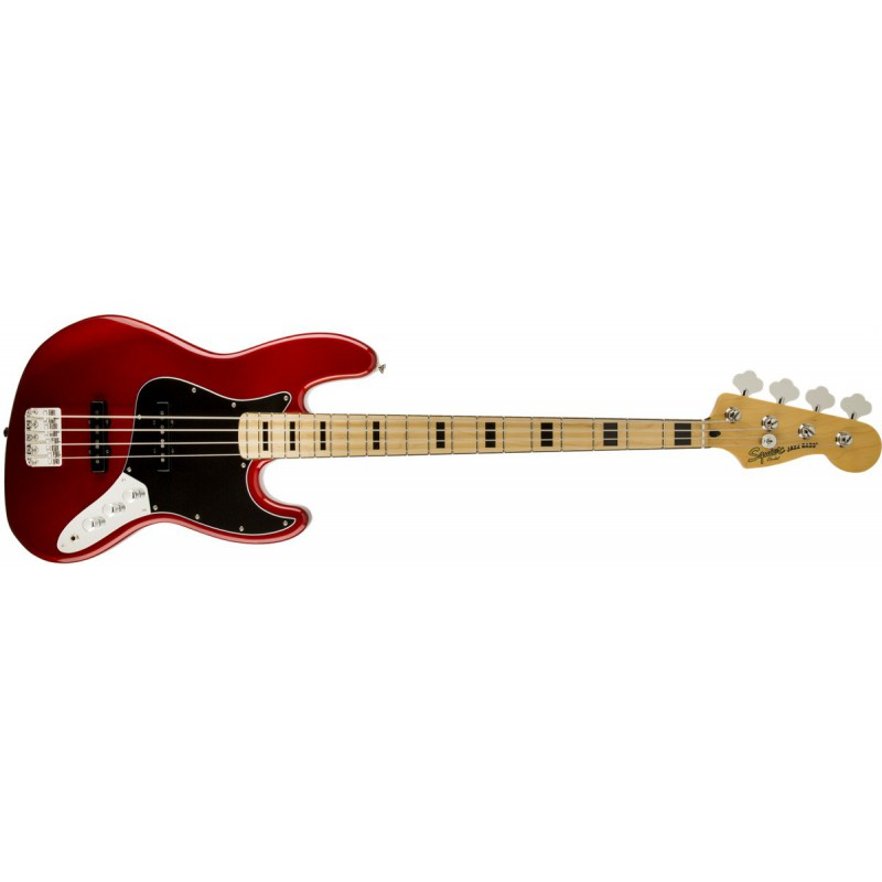 Squier Jazz Bass 70s Vintage Modified Candy Apple Red Maple - 030-6702-509