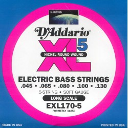 D'addario EXL170-5 Long Scale 45-130
