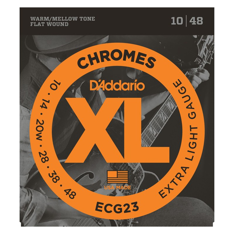D'addario Chromes Jazz Extra Light ECG23 10-48