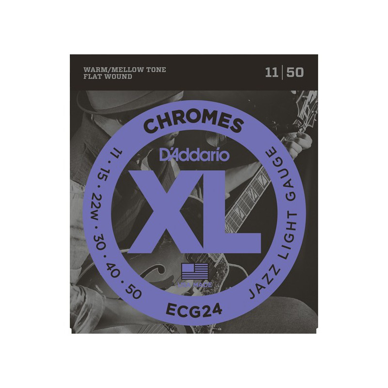 D'addario Chromes Jazz ECG24 11-50