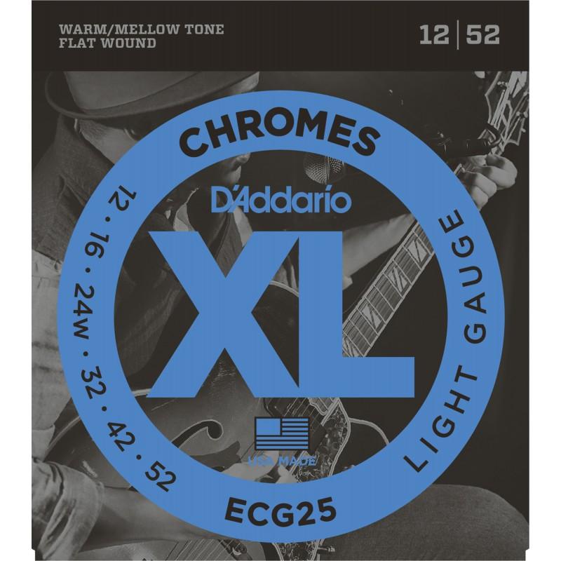 D'addario Chromes Light ECG25 12-52