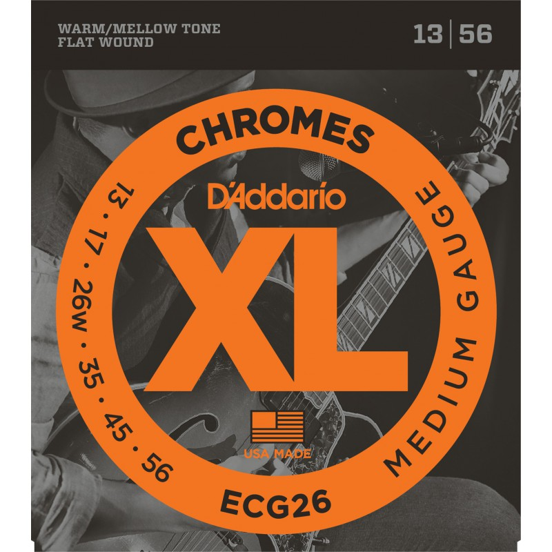 D'addario Chromes Medium ECG26 13-56