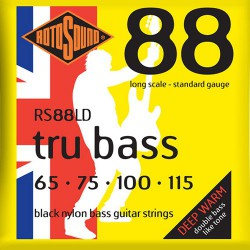 Rotosound RS88LD Tru Bass Black Nylon Filet Plat Standard 65-115