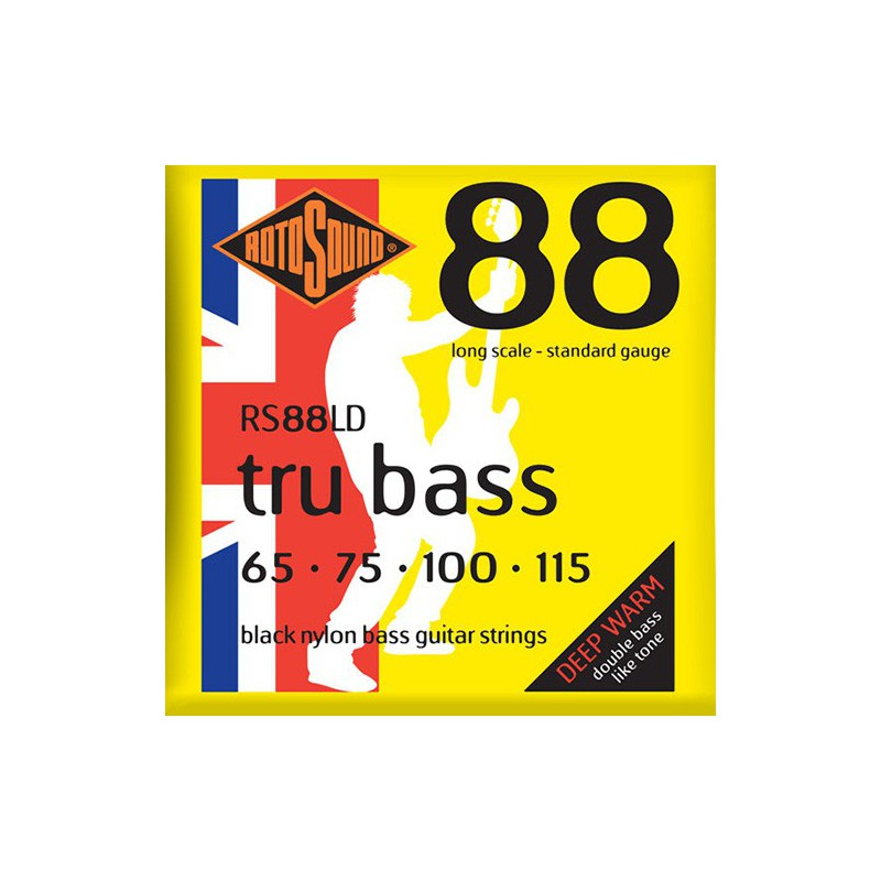 Rotosound RS88LD Tru Bass Black Nylon Filet Plat Standard 65-115