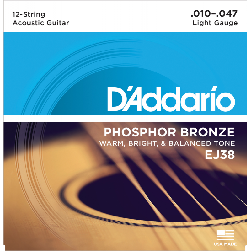 D'addario EJ38 12 Cordes Light 10-47