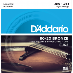 D'addario EJ62 Mandolin Light Bronze