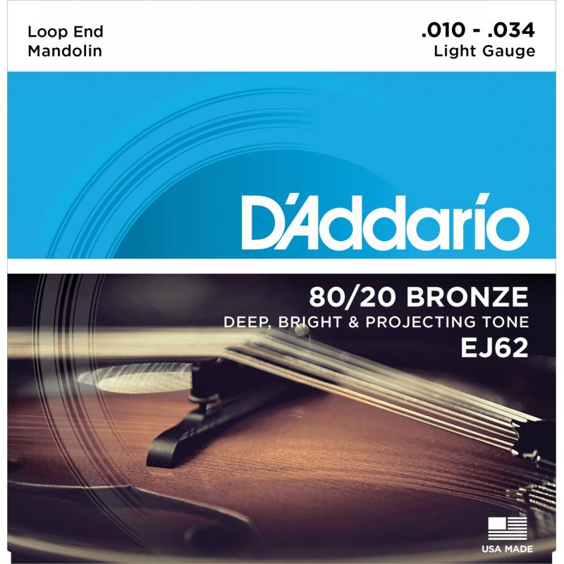 D'addario EJ62 Mandolin Light Bronze