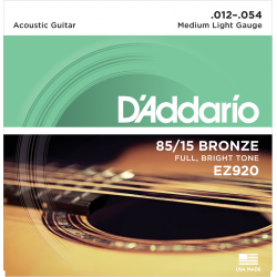 D'addario EZ920 Medium Light 12-54