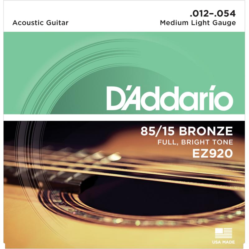 D'addario EZ920 Medium Light 12-54