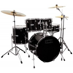 Gewa Music Pure Drum-Set BASIX Classic Noir Chrome