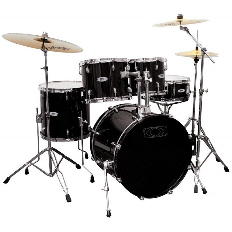 Gewa Music Pure Drum-Set BASIX Classic Noir Chrome