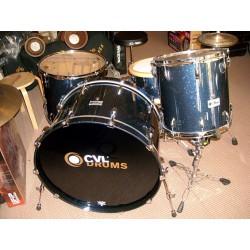CVL Drum Set Custom Châtaignier Blue Night Sparkle
